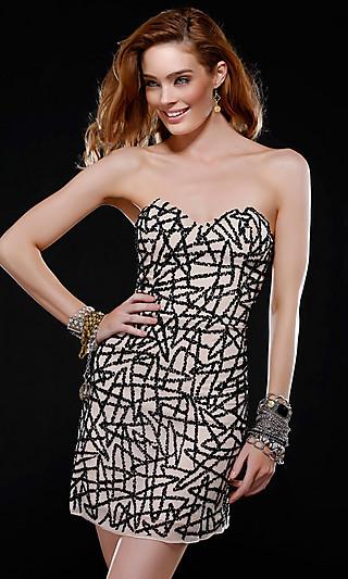 luxusní krátké společenské šaty na míru Yvette 2012 - plesové šaty ... 7658152581